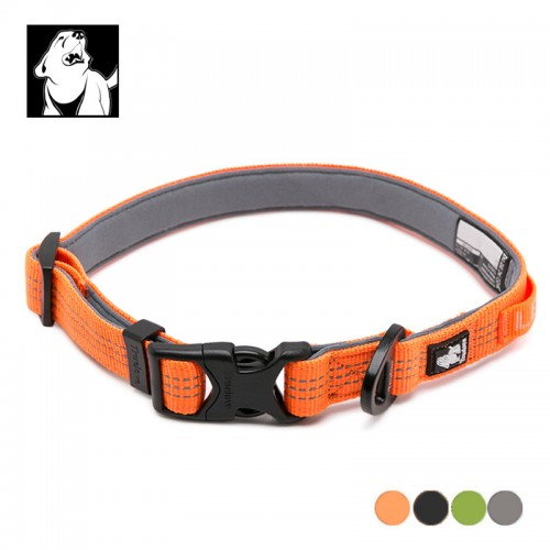 Adjustable Padded Quick Release Reflective Nylon Collar