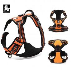 Reflective Nylon dog harness with handle.